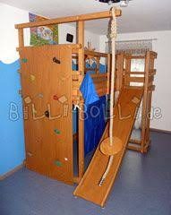 loft with climbing wall and slide lofty inspirations for diy