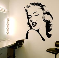 winning marilyn monroe quote decal vinyl art removable wall blog wall art marilyn monroe