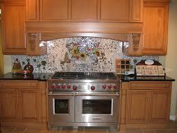 custom kitchen backsplash custom painted mosaic backsplash traditional kitchen