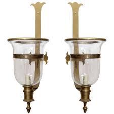 Vintage Sconces Pair Of Vintage Chapman Brass Hurricane Lanterns At 1stdibs