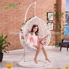 hanging swing chair bedroom round egg shape outdoor indoor bedroom wicker rattan hanging swing
