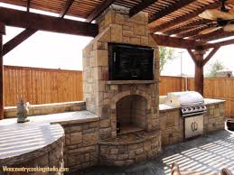 amusing outdoor kitchen and fireplace pictures best idea image