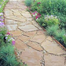 How To Install A Paver How To Make A Flagstone Path Flagstone Path Flagstone And Paths