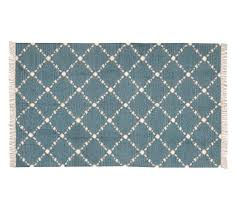 Pottery Barn Runner Rug Dot N Dash Recycled Yarn Indoor Outdoor Rug Blue Pottery Barn