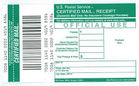 ucr mail services receipt for certified mail ps form 3800