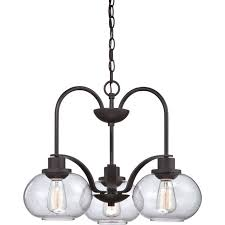 Traditional Chandelier Quoizel Trilogy 3 Light Chandelier In Bronze Traditional