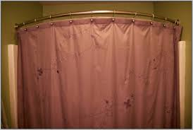 Curved Tension Shower Curtain Rods Curved Shower Curtain Rod For Small Showers