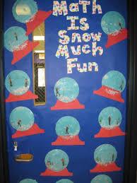 Pretty winter math door decorations christmas decoration ideas