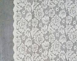vintage lace curtain etsy