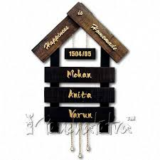 buy big nameplate design of house with 3 plates for names online