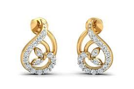 diamond earrings designs buy charvi designer diamond earrings endear jewellery