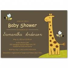 giraffe baby shower ideas giraffe and bee baby shower invitation bs040