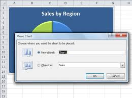 how to move an embedded excel 2010 chart to its own chart sheet