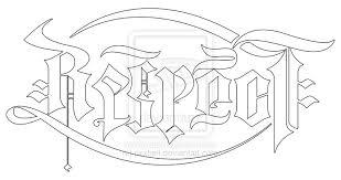respect loyalty ambigrams pinterest tattoo