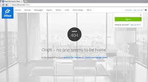 Zillow Home Search by Zillow Nobody Home Error Page 404 Pinterest