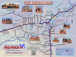 Road Map Of Arizona by Map Of Sedona Featured On Sedona Tv Your 1 Guide To Sedona