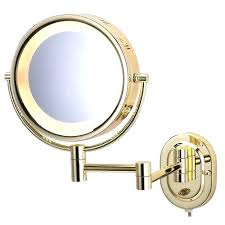 Magnifying Bathroom Mirror With Light Wall Mounted Lighted Magnifying Bathroom Mirror Illuminated