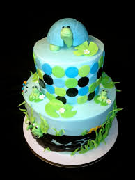 turtle baby shower sweet t s cake design peek a boo frogs and turtle baby shower cake