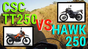 csc tt250 vs hawk 250 what u0027s the difference a chinese dual