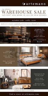 artemano warehouse sale save 50 u0026 more allsales ca