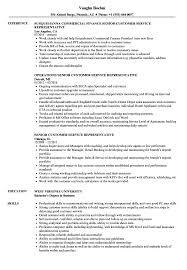 customer service representative resume senior customer service representative resume sles velvet