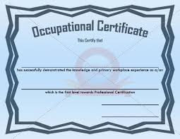 ffa certificate template 15 best occupational certificate templates images on