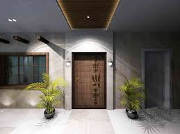 the entrance space at the residence design by samanth gowda