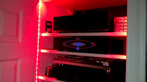 led strip lighting by bazz for a v closet home theatre post
