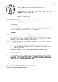 committee report template board report template