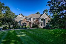 exceptional stone front center hall colonial on a quiet tree