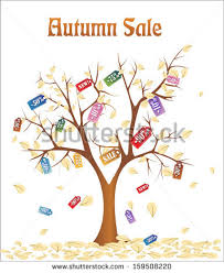 discounts falling tree big sale stock vector 159508223