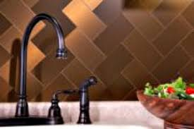 Use Tin Tiles Or Stainless Steel Tile TO Create A Sleek Up To Date - Bronze backsplash tiles