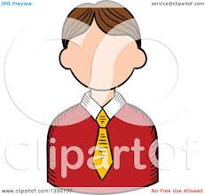 clipart of a sketched caucasian male teacher avatar royalty free
