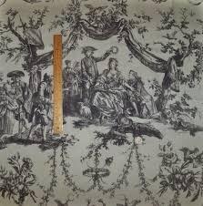 schumacher le couronnement de la rosiere french toile fabric gray