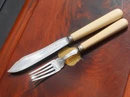 fine antique cased 24 piece silver plated fish cutlery set allen
