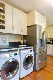 laundry in kitchen ideas laundry area ideas kitchen style with shaker cabinets