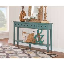 Turquoise Console Table Distressed Natural Pedestal Console Table Kirklands