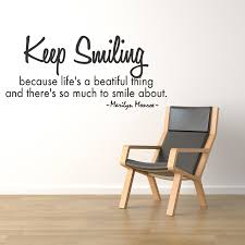 keep smiling life is beautiful marilyn monroe quote vinyl wall zoom