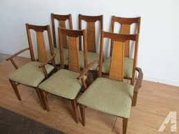 Modern Walnut Dining Chairs 6 Mid Century Modern Walnut Dining Chairs For Sale In Ventura