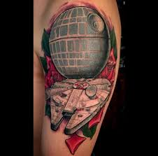death star and millennium falcon by pablo felipe at imaginarium