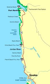 travel map sooke to port renfrew vancouver island bc canada