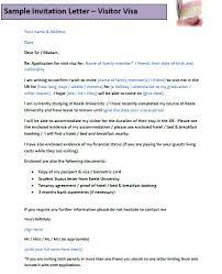 example of invitation letter sample of invitation letter for visa