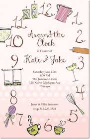around the clock bridal shower western around the clock bridal shower invitations bridal