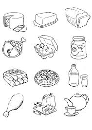 free printable food coloring pages for