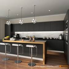 Matte Black Kitchen Cabinets Op16 L14 Modern Stylish Black Matte Lacquer Kitchen Cabinet