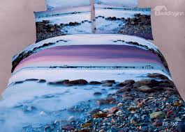 Ocean Bedspread New Arrival Pebbles In The Mist Print 3d Bedding Sets Bedding