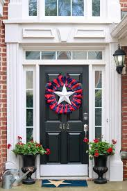 Fourth Of July Door Decorations 3 Ideas For Patriotic Doorway Decor Peachfully Chic