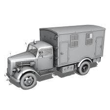 opel blitz opel blitz 3t truck with kofferaufbau 3d model vehicles 3d
