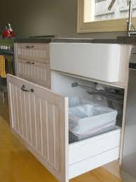 under sink trash pull out pull out trash bin houzz within under sink can decorations 18