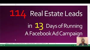 successful real estate lead generation facebook ad campaign 2017